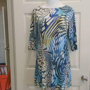 Modern & bold pattern dress